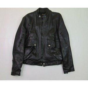 Protech 46 Leather Motorcycle Jacket Biker Coat